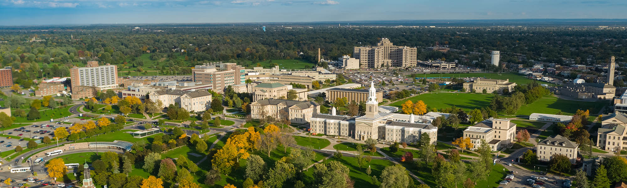 Aerial view of UB's South Campus.